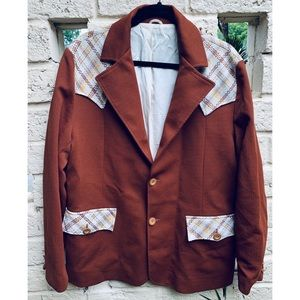 Rust Men's Pioneer Wear Jacket Blazer Leisure Coat